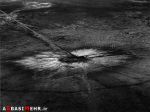 بقایای انفجار اولین بمب اتمی - نیومکزیکوی آمریکا - 1945