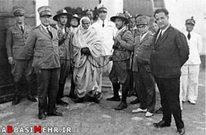 عمر مختار (رهبر انقلابی لیبی) در بند نیروهای اشغالگر ایتالیا
