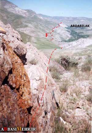 گسل اردبیلک - شمال قزوین