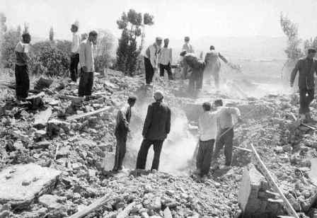 تصاویر زلزله بوئین زهرا - 1341 - قزوین