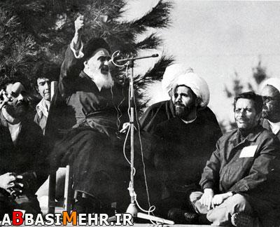 امام خمینی در بهشتزهرا - 12 بهمن 1357