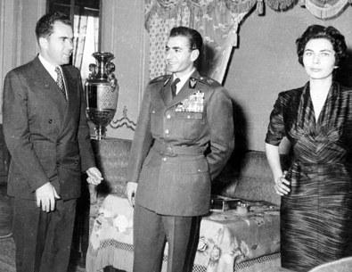 محمدرضا پهلوی - ثریا همسر محمد رضا و نیکسون