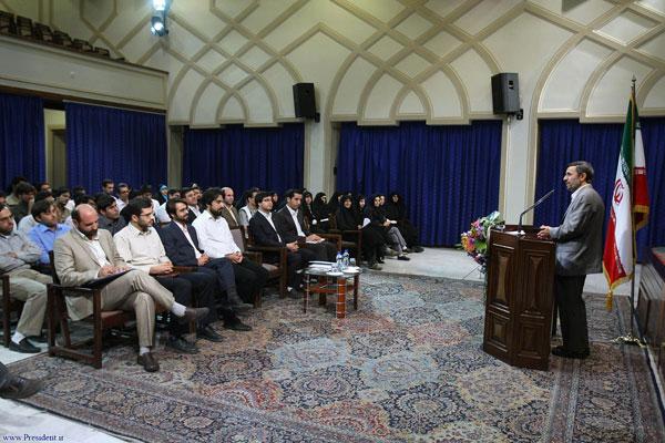 دیدار اعضای شورای مرکزی دفتر تحکیم وحدت با رئیس جمهور