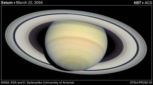 سیاره زحل - تصویر برداری شده توسط هابل